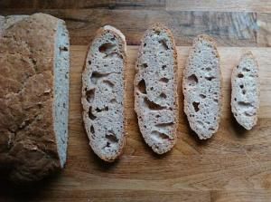 Gluten free holey sourdough bread