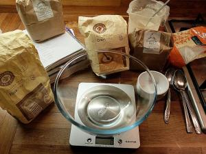Ingredients for gluten free sourdough bread