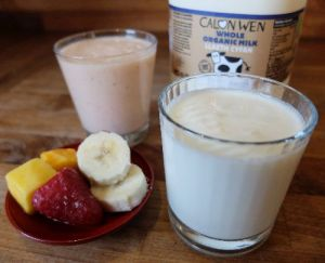 Kefir and kefir smoothie
